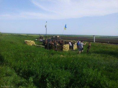 Позиция сил АТО под городом Угледар - Ugledar-leto-2014.jpg