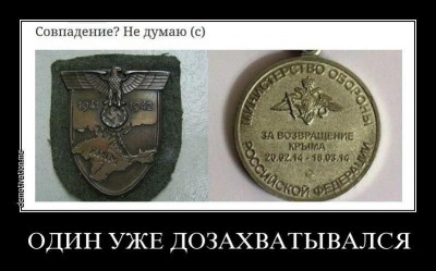 Сравнение медалей за взятие Крыма: у нацистской Германии и Российской Федерации - Crimea-and-Reich.jpg
