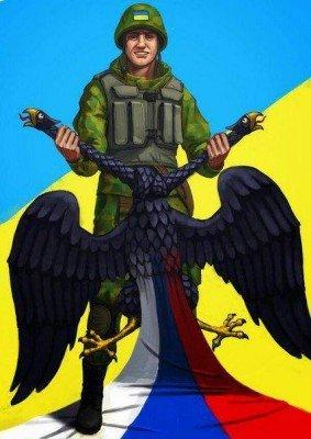 Украинский солдат душит двуглавого орла - 9292020.jpg