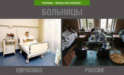 Как выглядят палаты в больницах Европы и России - bolnytsy.jpg