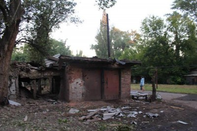 Разрушенный гараж - Dzerzhynsk_obstrel_4.jpg