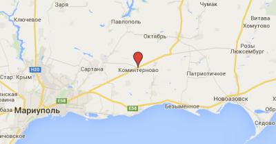 Фрагмент карты Донецкой области - komynternovo.png