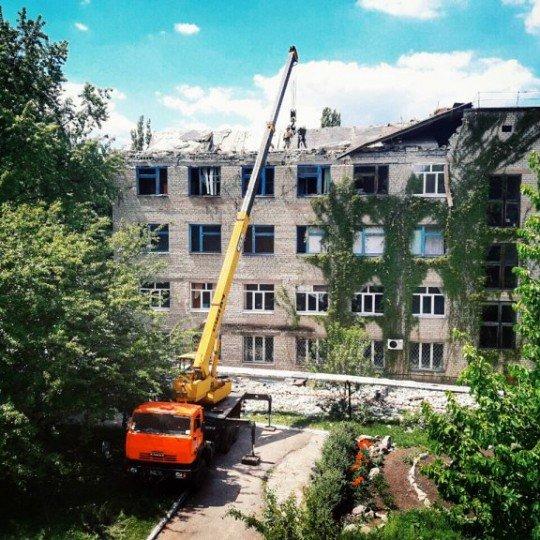 Обстановка в городе Красногоровка, перекличка и обсуждение важных событий - Krasn-ruins (1).jpg