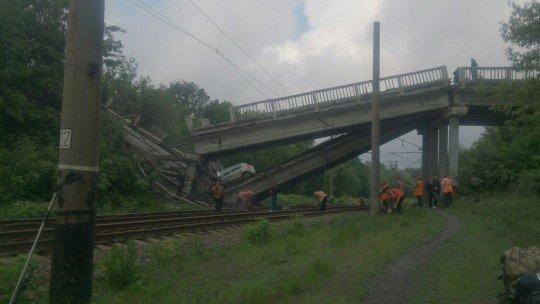 Под Хрустальным бывший Красный Луч подорвали мост - most-2.jpg