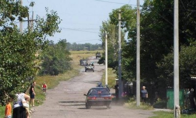 Силовики на въезде в Шахтерск - ATO-Shahtersk-27-07-2014.jpg