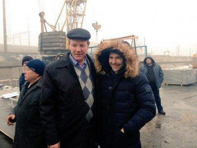 Лидер группы Океан Эльзы Святослав Вакарчук побывал в Дебальцево - Vakarcuk-u-Debaltsevo.jpg
